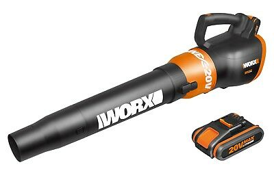 WORX WG546E.2 20V Cordless Lithium Air Turbine Blower with x2 2Ah Battery Packs