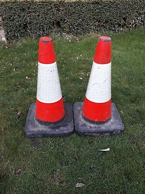"2 x 20"" / 50cm Road Traffic Cones - Heavy Duty - Self Weighted"