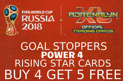 Adrenalyn Xl Fifa World Cup 2018 Goal Stopper, Power 4 & Rising Star Cards