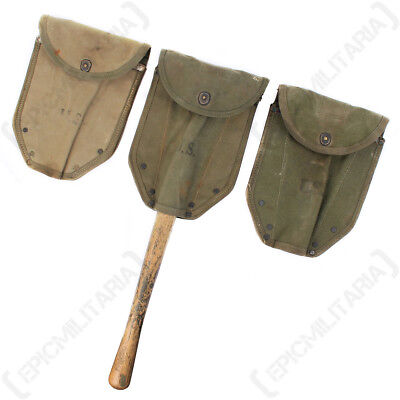 Original WW2 US M43 Shovel Cover - American Webbing Spade Case Carrier Army Pack