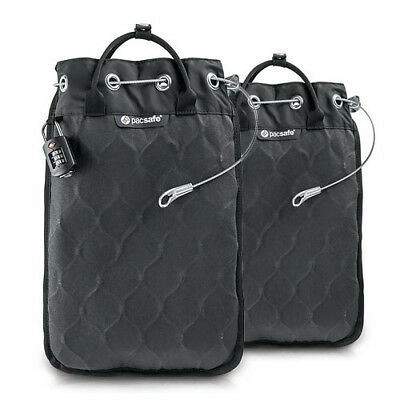 "Pacsafe Travelsafe 12L GII Portable Safe w/ 15"" MacBook Compatible Sleeve-2 Pack"