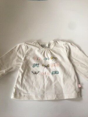 Bebe Long Sleeve Tshirt Butterfly Girls 00 3-6 Months