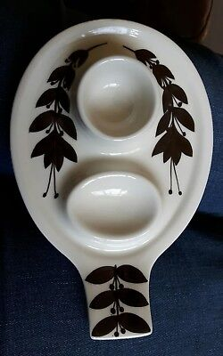 A Vintage Retro Jersey Pottery Egg Cup & Spoon Rest