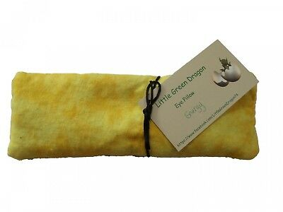 Handcrafted Eye Pillow for Energy with Lemon Verbena Eucalyptus and Flax Hot