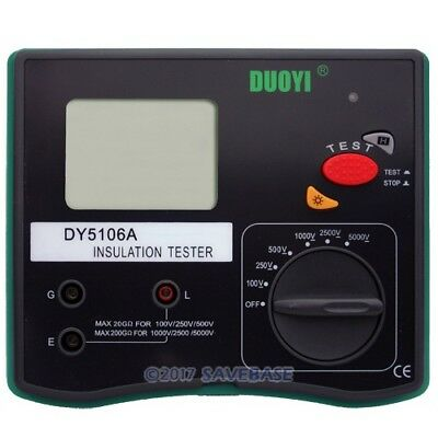 New Dy5106A 5Kv Digital Insulation Resistance Tester Meter High-Performance