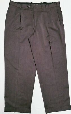 6a5a182141d452 Rafael men's dress pants gray pleated-front buttoned-pockets size W-42 L
