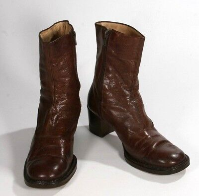 d569578c867a Vintage Ritz New York Brown Leather Ankle Boot Casual Zip Up Size 39.5 US 9