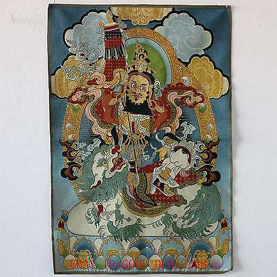 Tibet Collectable Silk Hand Painted Buddhism Thangka TK012