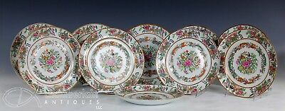 Set Of 10 Antique Chinese Famille Rose Porcelain Plates - 8.5""
