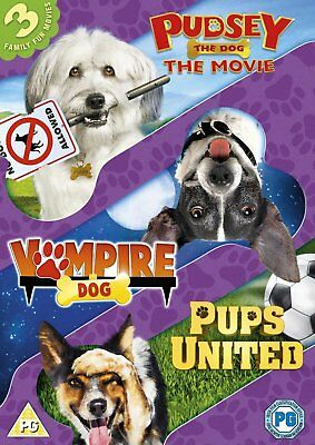 Pudsey the Dog / Vampire Dog / Pups United   3 Dog Films  (DVD)  **Brand New**