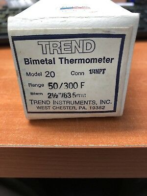 Trend Instruments Bimetal Thermometer Model 20