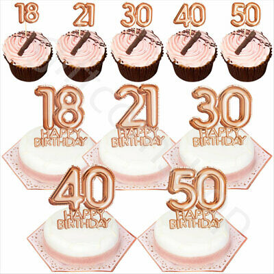 Pink & Rose Gold Happy Birthday Party Tableware Disposable Catering Supplies