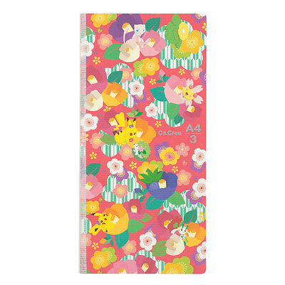 Pokemon Center Original Japanese Pattern Notebook Memo Pad #1 Plum Camellia
