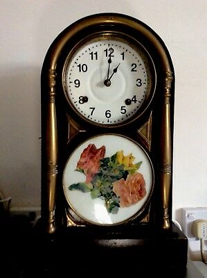 Chinese Mantel Clock..   ( Mothers Day Roses ? )