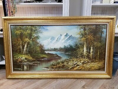 Oil Painting with Gold Frame