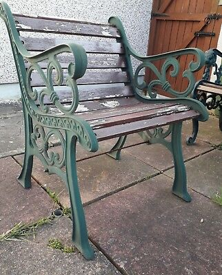 Wooden Garden Chair (with cast iron ends)