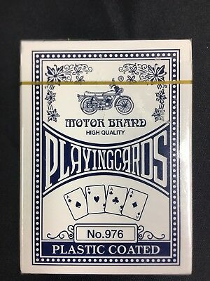 Sealed Motor Brand High Quality Plastic Coated Playing Cards Souvenir (A1266)