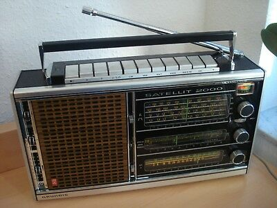 Grundig- Satellit 2000-Weltempfänger-made by Grundig 1973 ! Top-Zustand