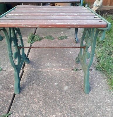 Wooden Garden Table (with cast iron  ends)