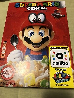 Super Mario Cereal Limited Edition Nintendo Switch Amiibo Odyssey Priority Ship