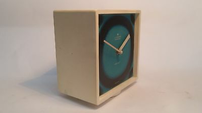 JUNGHANS ELECTRONIC ATO-MAT fliesenuhr 70er Vintage Blue Space Age Watch