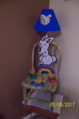 ANTIQUE CHILDREN'S BENTWOOD CHAIR LAMP by Outsider designer JCAS (REDUCED) 150.