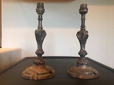 Pair Of French Boudoir Lamps