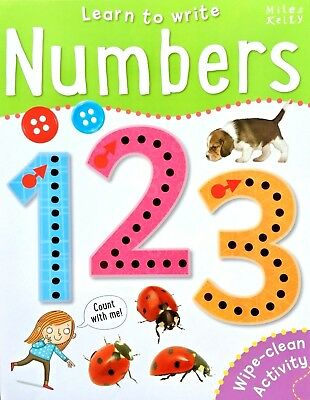 Learn To Write | Numbers | Wipe Clean Activity | Miles Kelly | New