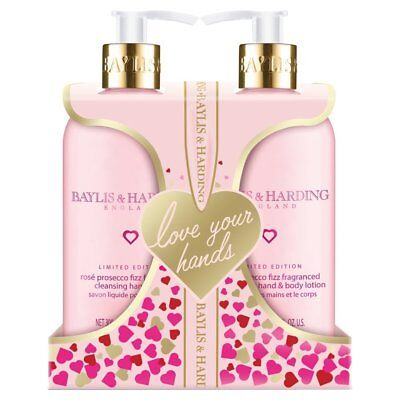 Baylis & Harding Rose Prosecco Hand Wash & Hand Lotion 300ml