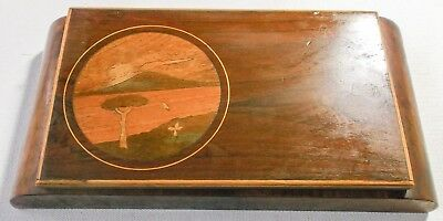 1920s 1930s Art Deco Inlaid Wooden Box. Cigarette or Jewellery.