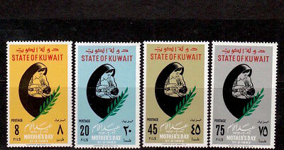 Kuwait 1963 Mother'S Day Stamps Set S.g. 180-183 Unmounted Mint