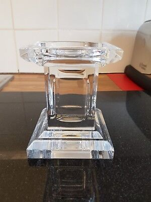 heavy glass candle holder by louise kennedy