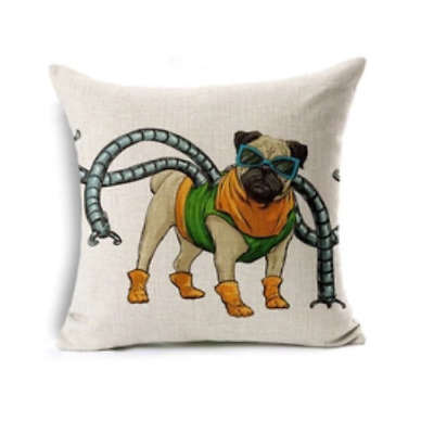 Pug Cushion Similiar to Marvel Character Doctor Octopus