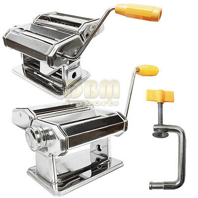 "Portable Mini Manual 7"" Pasta Maker Making Machine Stainless Steel 3 Types"