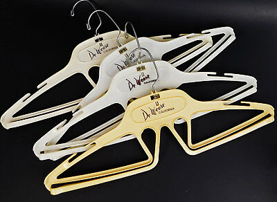 Vintage De Weese California Clothing Company Lot of 4 Plastic Hangers