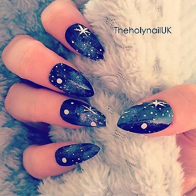 FALSE NAILS - Galaxy Space Effect - Stick On - The Holy Nail