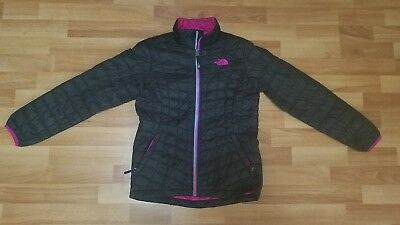 Girls The North Face Thermoball Full Zip Jacket Coat Black Sz M (10/12)