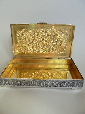 Large Antique Persian Silver Box 374 grams