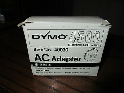 One  Dymo  Ac  Adapter  For  Dymo 4500  Electronic  Label Maker     Item#40030