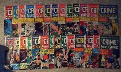 Crime Suspenstories 1 - 27 complete lot set, EC Comics, High grade set with # 22