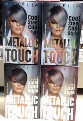 METALLIC SILVER effect, Permanent Hair Dye Colourant, with KERATIN in 4 shades