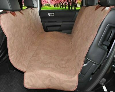 Pet Car Seat Cover Hammock for Dog Cat Suede Quilted Waterproof SUV Van Back