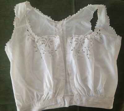 Cache-Corset Ancien Broderie Anglaise