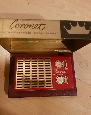 Coronet Transistor Six in original box - FIDELITY RADIO