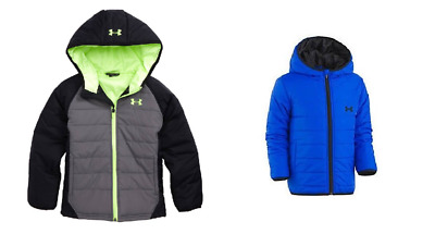 New Under Armour Boys Water Resistant Hooded Puffer Jacket MSRP $59.99