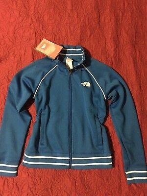 NWT North Face Girls Blue Jacket Size Large