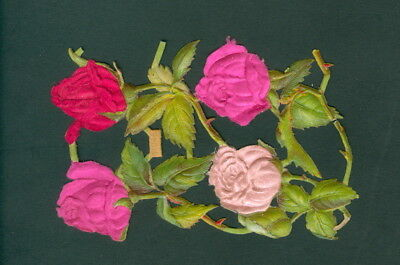 Victorian  Die Cut Scrap Very old    ORIGINAL ROSES