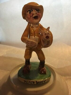 Will Young pottery Figure Peter Davey Widecombe Fair Collection
