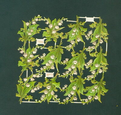 Victorian  Die Cut Scrap Very old    ORIGINAL FLOWERS L&B #2235