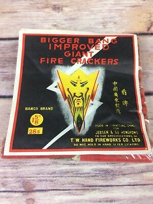 Bigger Bang Improved Giant Firecrackers Label Only
